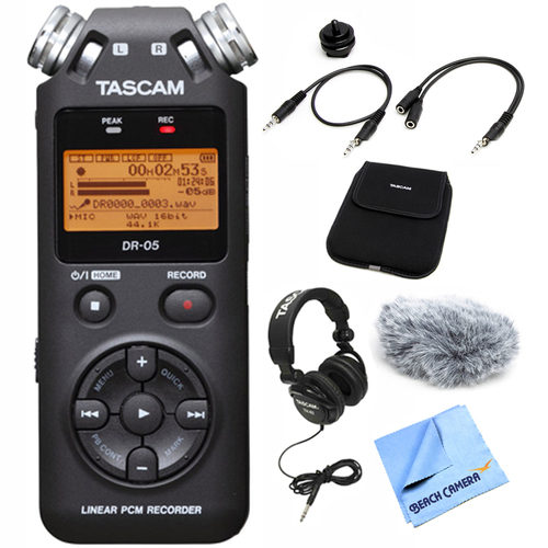 Tascam DR-05 Portable Digital Recorder with Accessory Bundle