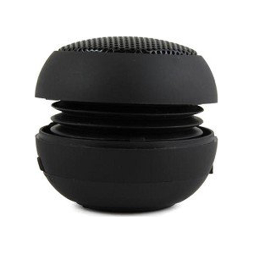 Essentials Speaker Ball for iPhone, iPod, iPad, All Tablets, and MP3's - Black