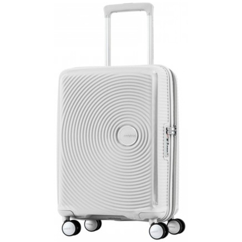 American Tourister 20` Curio Hardside Spinner Luggage, White