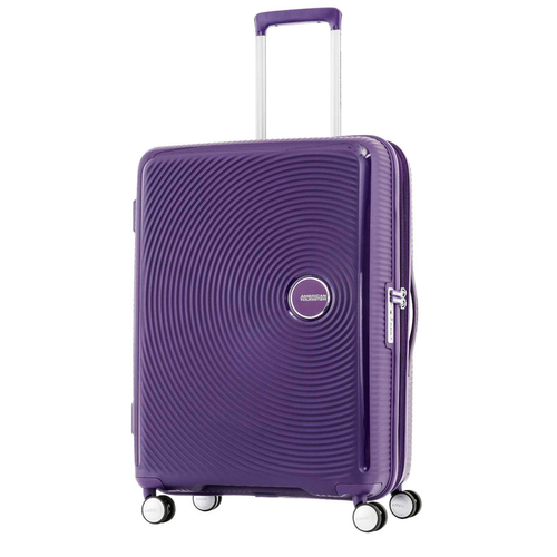 American Tourister 25` Curio Hardside Spinner Luggage, Purple