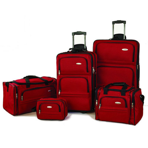 Samsonite 5 Piece Nested Luggage Set (Red)