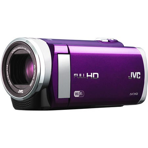 JVC GZ-EX210VUS - HD Everio Camcorder f1.8 40x Zoom 3.0` Touchscreen WiFi (Violet)