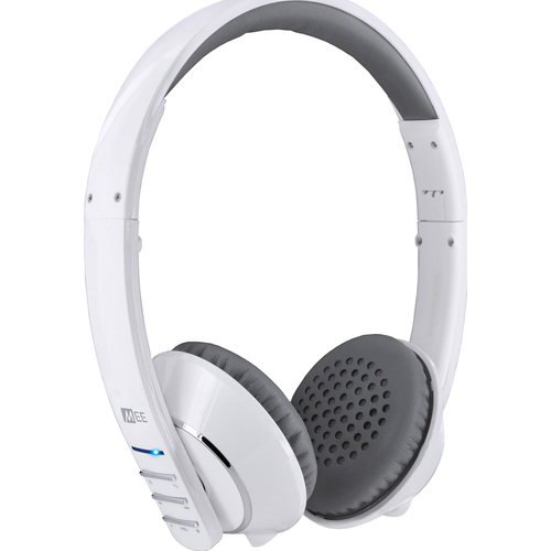 MEElectronics Air-Fi Runaway AF32 Stereo Bluetooth Headphones w/ Mic. (White/Grey) (OPEN BOX)