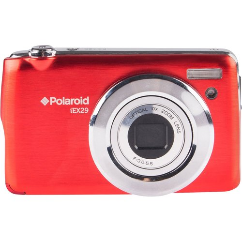 Polaroid iEX29 18MP 10x Optical Zoom Digital Camera with HD Movie Recording (Red)