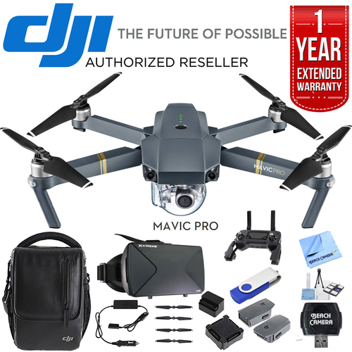 DJI Mavic Pro 4K Camera Quadcopter Drone Fly More Combo Pack w/ Ultimate Bundle