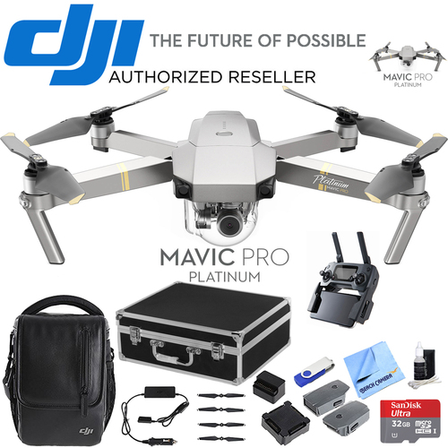 DJI Mavic Pro Fly More Combo Expedition Kit (CP.PT.00000069.01) w/ 3 Battery Bundle