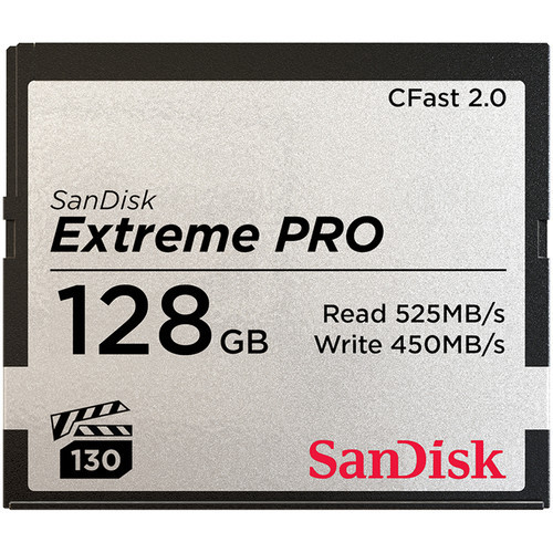 SanDisk 128GB EXTREME PRO CFAST 2.0 525/430MB/S