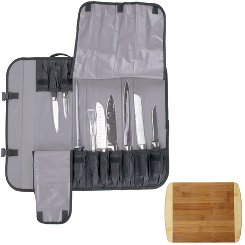 Mercer Culinary Genesis 10-Pc. Forged Knife Set w/ Case & Premium Cutting Board