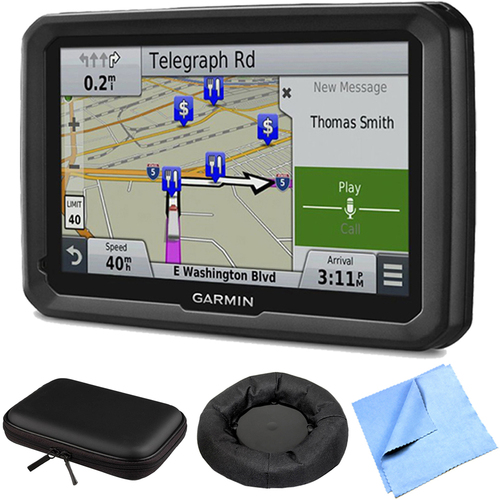 Garmin dezl 770LMTHD 7` GPS w/ Lifetime Map/Traffic Updates Case/Dash Mount Bundle