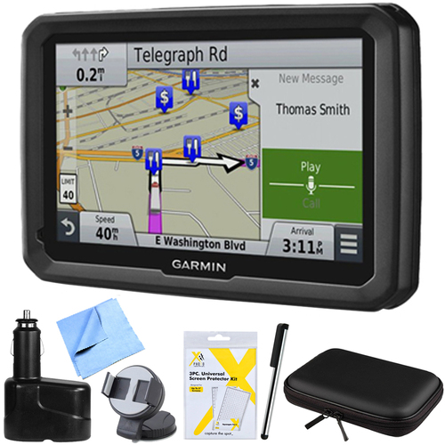 Garmin dezl 770LMTHD 7` GPS Navigation with Lifetime Map/Traffic Updates Mount Bundle