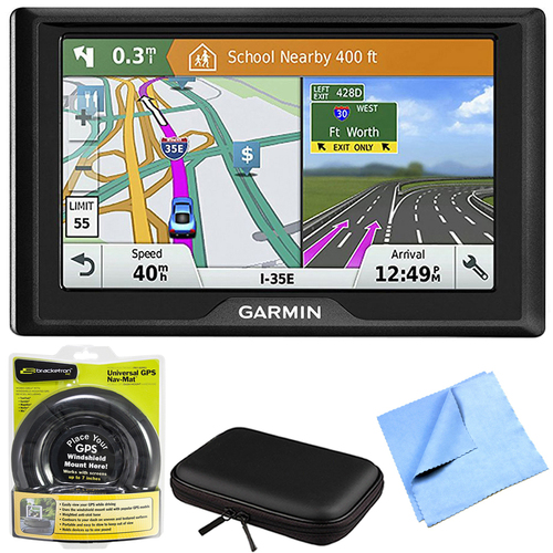 Garmin Drive 61 LM GPS Navigator with Driver Alerts USA with Mount Bundle