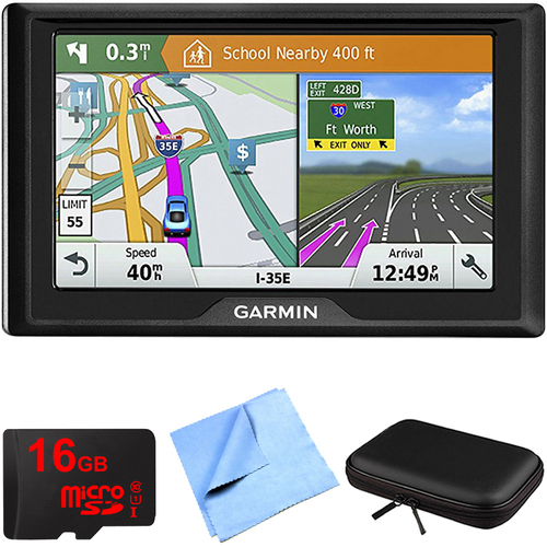 Garmin Drive 61 LM GPS Navigator with Driver Alerts USA with Memory Card Bundle