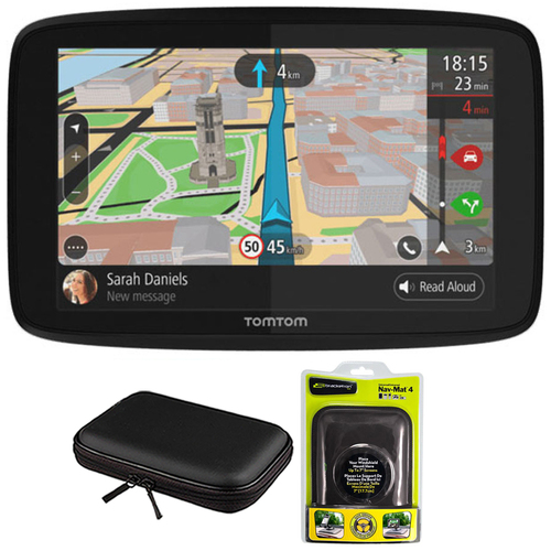 TomTom GO 620 GPS 6` Touch Screen (US-CAN-MEX) with Hardshell Case and Dash Mount