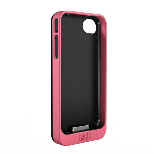 uNu Exera Modular Detachable Battery Case for iPhone 4S 4 - Pink/Black