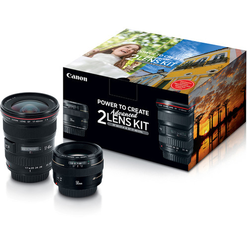 Canon Advanced 2 Lens Kit with 50mm f/1.4 and 17-40mm f/4L Lenses - (2515A034)