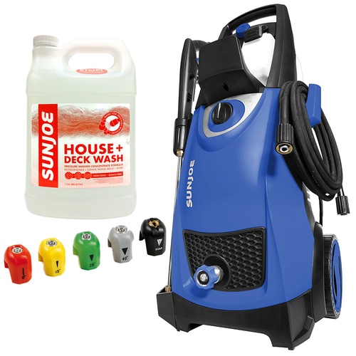 Sun Joe SPX3000 2030 PSI Electric Pressure Washer (Blue) + House Cleaner Bundle