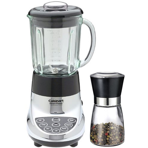 Cuisinart 7 Speed Electric Blender, Chrome - Factory Refurbished w/ Spice Mill