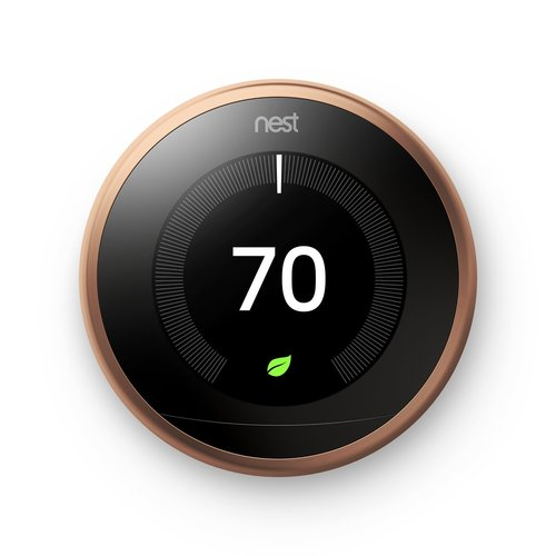Learning Smart Thermostat 3rd Generation Copper T3021US