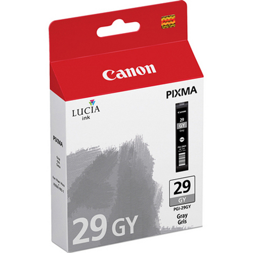 Canon PGI-29 GY - LUCIA Series Gray Ink Cartridge for Canon PIXMA PRO-1 Printer