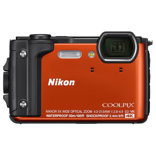 Nikon COOLPIX W300 16MP 4k Ultra HD Waterproof Digital Camera (Orange) Refurbished
