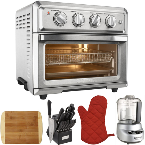 Cuisinart Convection Toaster Oven Air Fryer w/ Light Silver + Ultimate Kitchen Bundle