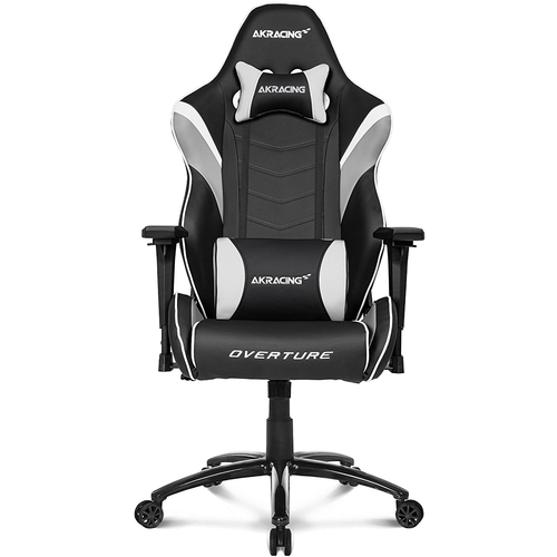 AKRacing Overture Series Super-Premium Gaming Chair with High Backrest, Recliner - White