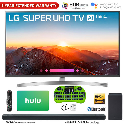 LG 49-Class 4K HDR Smart LED AI SUPER UHD TV w/ ThinQ + Sound Bar & Hulu Bundle