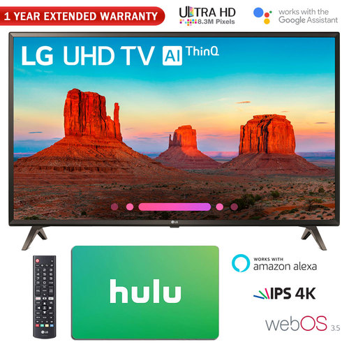 LG 49 Class 4K HDR Smart LED AI UHD TV w/ThinQ + Gift Card & Warranty Packs