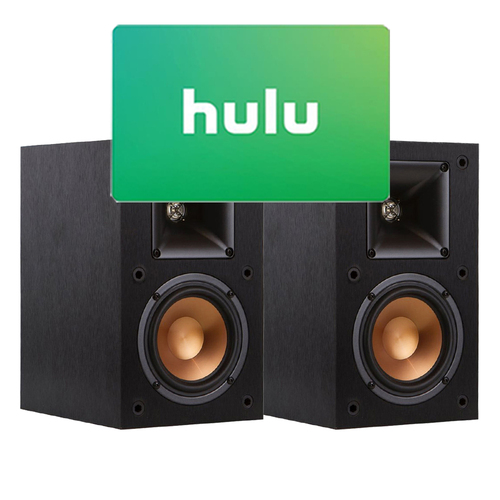 Klipsch R-14M Reference Bookshelf Monitor Speakers (Pair) And  $25 Hulu Gift Card