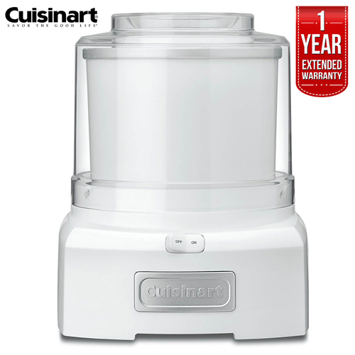 Cuisinart Frozen Yogurt-Ice Cream & Sorbet Maker 1.5 Quarts Refurbished +Extended Warranty