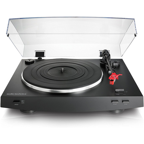 Audio-Technica AT-LP3BK Fully Automatic Belt-Drive Stereo Turntable, Black REFURBISHED