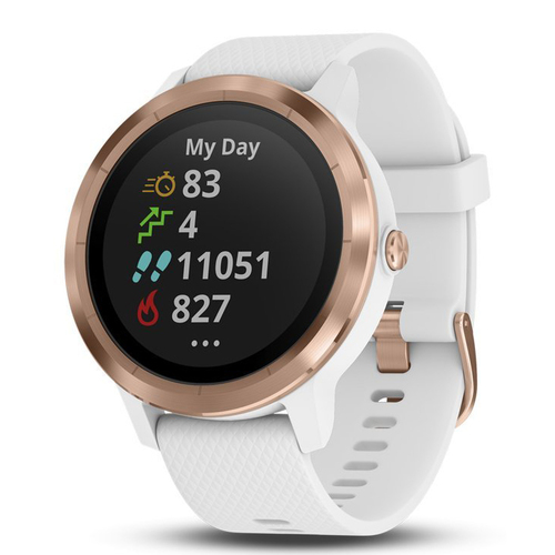 Garmin Vivoactive 3 GPS Smartwatch (White with Rose Gold)(010-01769-09)