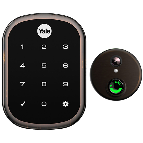 Yale Locks Assure Lock SL with iM1 Bronze with Skybell Video Doorbell
