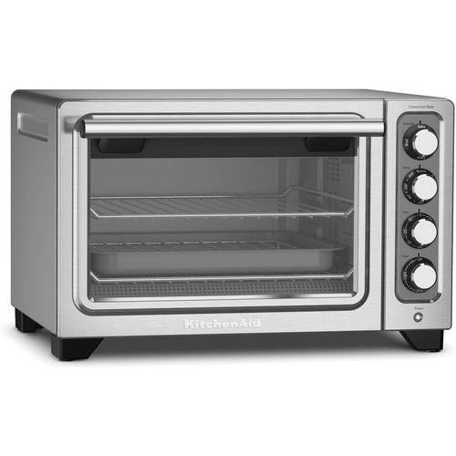 KitchenAid KCO253CU 12-Inch Compact Convection Countertop Oven - Contour Silver Refurbished
