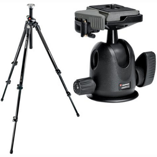Manfrotto 190L Tall 3-section Aluminium Q90 Tripod + 496RC2 QR Ball Head (190XPROL,496RC2)