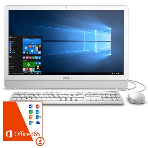 Dell Inspiron 3452 23.8 Pentium J3710 Touch 1920x1080 All-In-One Desktop w/Office 365