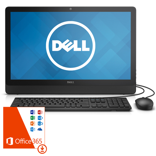 Dell Inspiron 3452 23.8` Intel J3710 Touch 1920x1080 All-In-One Desktop w/Office 365