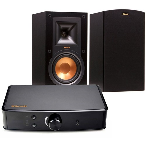 Klipsch R-15M Reference Bookshelf Speaker (Pair) Powergate Bundle(KLP1066470)