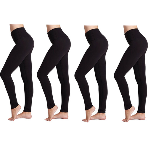 4-Pack Fashionable Legs Seamless Full Length Leggings
