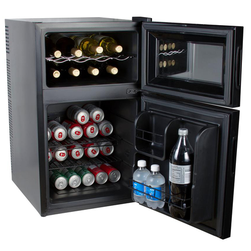 Kalorik 2-in-1 Beer or Soda and Wine Fridge Cooler, Black, WCL 42513 BK