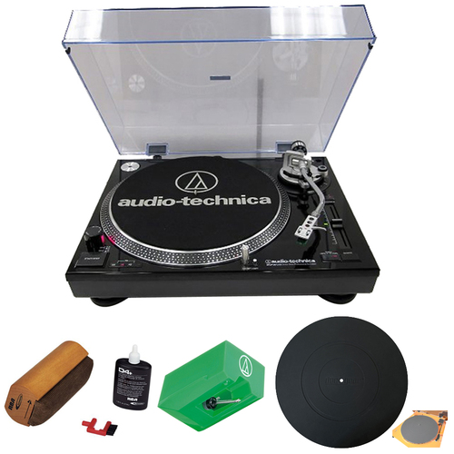 Audio-Technica Professional Stereo Turntable w/ USB LP to DIG Recording Black w/ Cleaning Kit