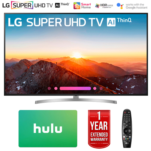 LG 75` Class 4K HDR Smart LED AI SUPER UHD TV w/ThinQ + Gift Card & Warranty Pack