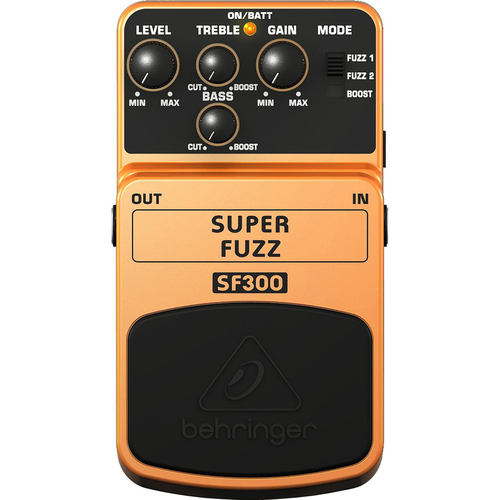 Behringer SUPER FUZZ SF300 3-Mode Fuzz Distortion Effects Pedal (OPEN BOX)