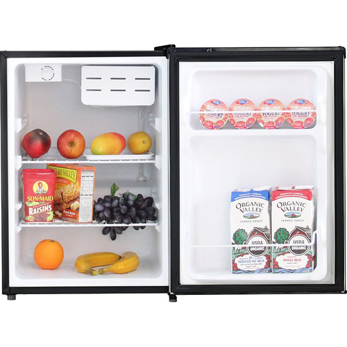 Midea 2.4 Cubic Feet Single Reversible Door Compact Refrigerator in Black (OPEN BOX)