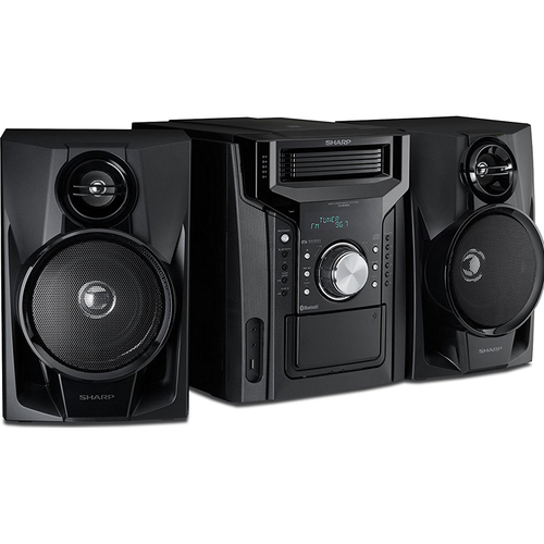 Sharp 240W 5-Disc Mini Shelf Speaker System with Cassette and Bluetooth (OPEN BOX)