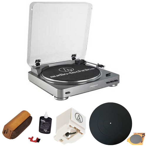 Audio-Technica AT-LP60 Turntable w/ Record Cleaning Kit