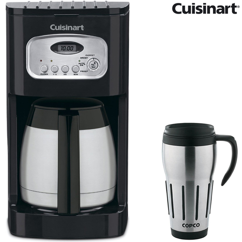 Cuisinart 10-Cup Programmable Thermal Coffeemaker (Refurbished) w/24 Oz Travel Mug