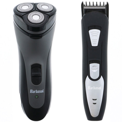 Barbasol Close Shave Rotary w/ Pop Up Trimmer + Rechargeable Beard Trimmer Bundle