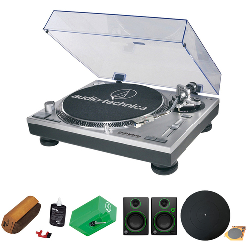 Audio-Technica Professional Stereo Turntable w/ USB LP to DIG - Silver w/ Exclusive Bundle