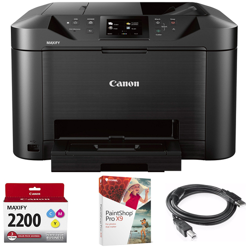 Canon MAXIFY MB5120 Wireless Color Printer + 3 Ink Value Pack Bundle